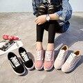 Matorrales Plataforma de piel de Vaca Zapatos de Mujer Cabeza Redonda Del Cordón Plana Zapatos Casuales de La Moda Zapatos 2017 Zapatos Casuales de Cuero Genuino Mujeres de Los Planos