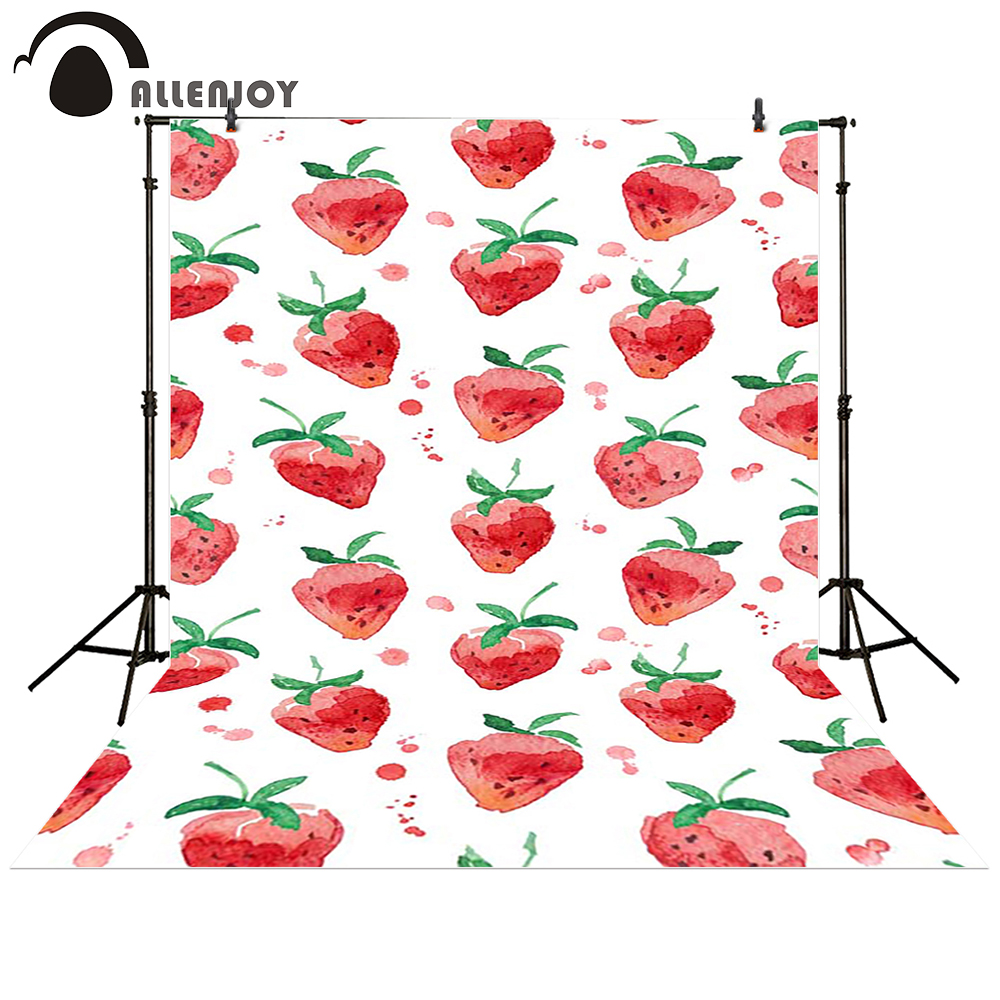 Allenjoy photography backdrop Strawberry watercolor cute baby shower children background photo studio photocall allenjoy photography backdrops library bookshelf school student study room books photocall baby shower