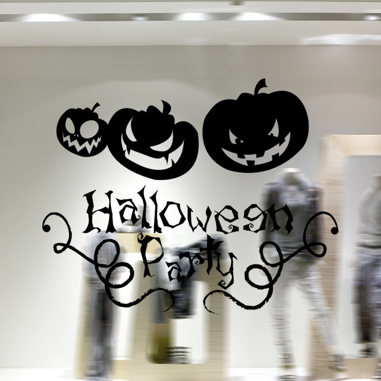 halloween series pumpkin glass display window room shop. Black Bedroom Furniture Sets. Home Design Ideas