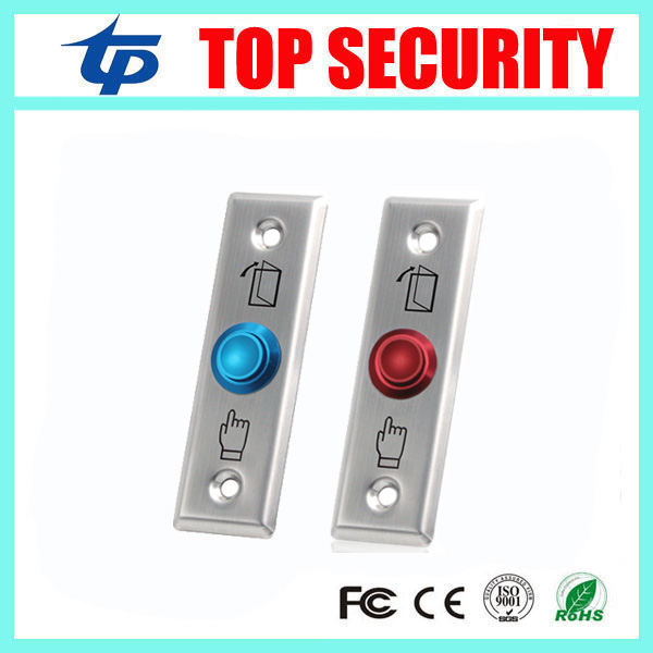 Stainless Steel Exit Button NO/NC/COM Door Exit Switch Led Light Metal Exit Push Button 10pcs A Lot For Access Control System stainless steel exit button led light metal exit push button no nc com door exit switch door button for access control system