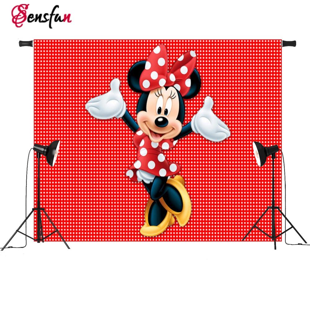Vinyl Red Minnie  Dance Polka Dots  Custom Photo Studio Background Photography Backdrop 7x5ft