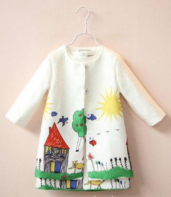 2016 children's clothing brand Italian milan fashion children dress style girls collect children's sportswear (dress + coat)