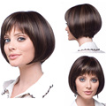 30CM Fashion Sexy Bob Ladies Fluffy Neat Bangs Short Natural Full Wig Women's Cosplay Wigs