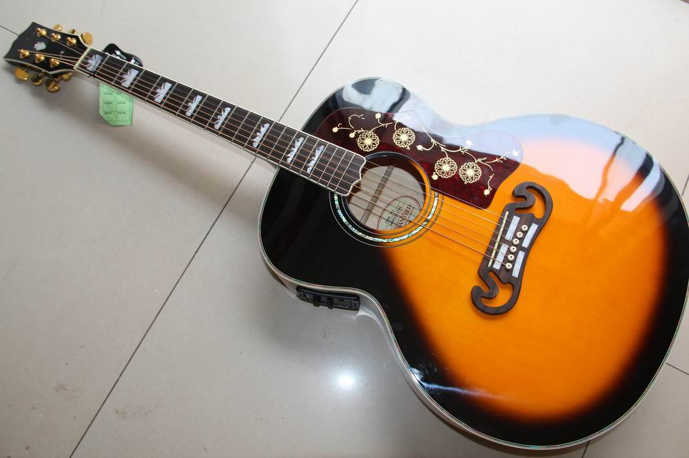 New Arrival Cnbald G SJ200 acoustic electric guitar 43# best selling in sunburst SJ200 120930 new arrival firebird electric guitar in sunburst 120318