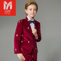 Boy suits Blazers British children's dress in the big children's flower dress performance service chair leisure suit jacket
