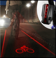 Bicycle Safety Warning Light 4 Laser 5 LED Flashing Lamp Light Rear Cycling Bicycle Bike Tail