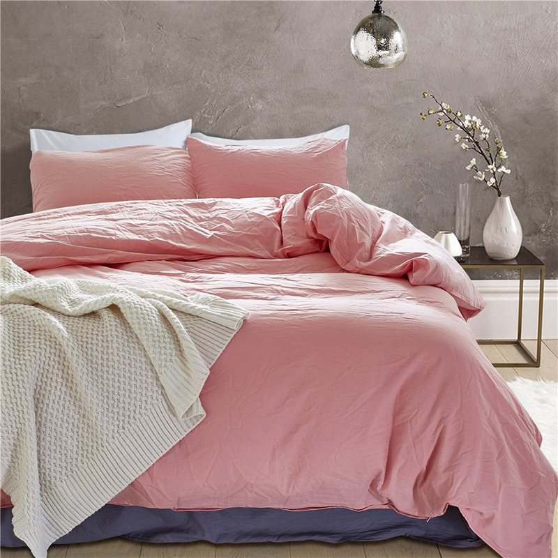 100% Cotton Pink Color Duvet Cover Sets for Kids Adults Twin Queen King Size Bedding Sets for Single Double Bed XF506100% Cotton Pink Color Duvet Cover Sets for Kids Adults Twin Queen King Size Bedding Sets for Single Double Bed XF506
