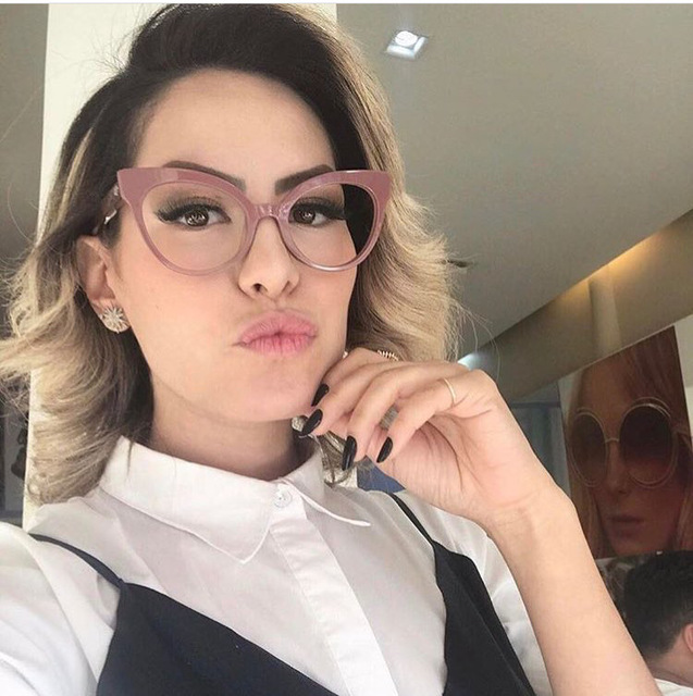 77513cd1e5 SOLO TU New Fashion Retro Men Women Light Cosy Cateye Eyewear Frame Optical  Eyeglasses Computer Glasses Spectacle Frame Oculos