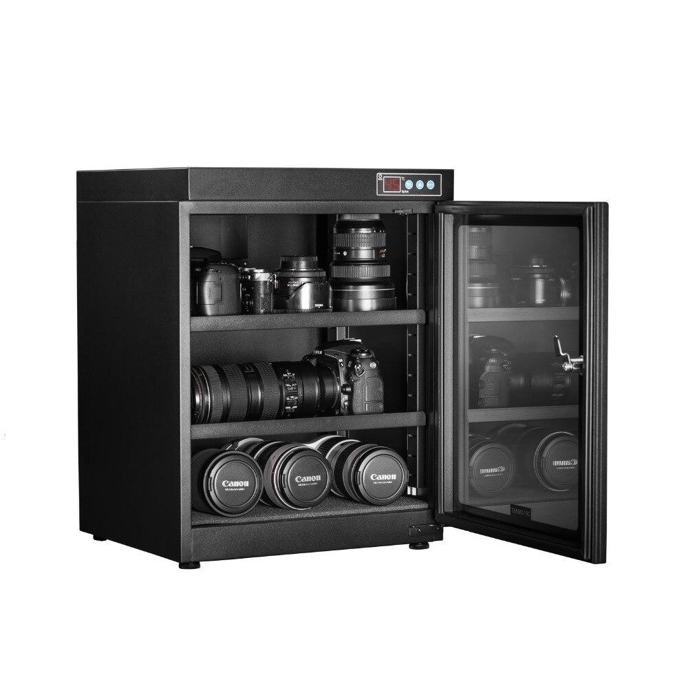 Plein Automatique Sec Cabinet Collection SLR Camera Lens Sec Box Étanche À L'humidité Boîte Tactile Affichage LED Interrupteur 70 Litres