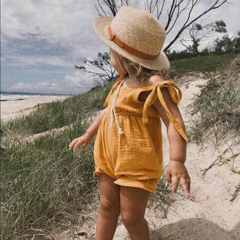 New 2019 Baby Lovely One-pieces Kids Boy Girls Suspender Romper Brand Cotton Baby Boys Summer Romper Infant Girl Solid Rompers
