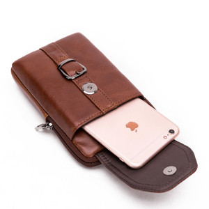 Image 4 - Retro Luxury Leather Mobile Phone Bag For Samsung Galaxy S8 S9 Plus S7 J Series Genuine Cowhide Wallet Case For iPhone 6 7 8 X