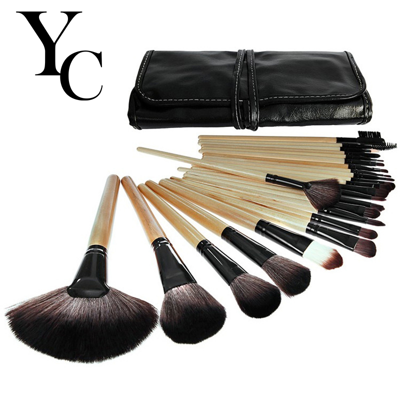 Yansh  Stage Makeup Brush 24pcs set  Brushes set tools portable full Cosmetic brush tools Foundation Eyeshadow Lip brush