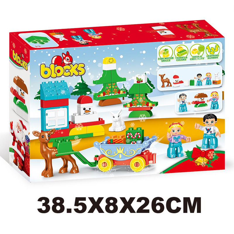 46Pcs 2018 Colorful Christmas Gift Boy Girl DIY Big Bricks DIY Building Blocks Toys for Children Compatible LegoINGLY Duplo solar electronic building blocks children s electrical science and education diy toys christmas gift
