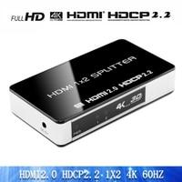 1x2 HDMI Splitter 4K x 2K @60Hz Ultra HD HDR | HDMI 2.0, HDCP 2.2 | 1 in 2 Out Splitter