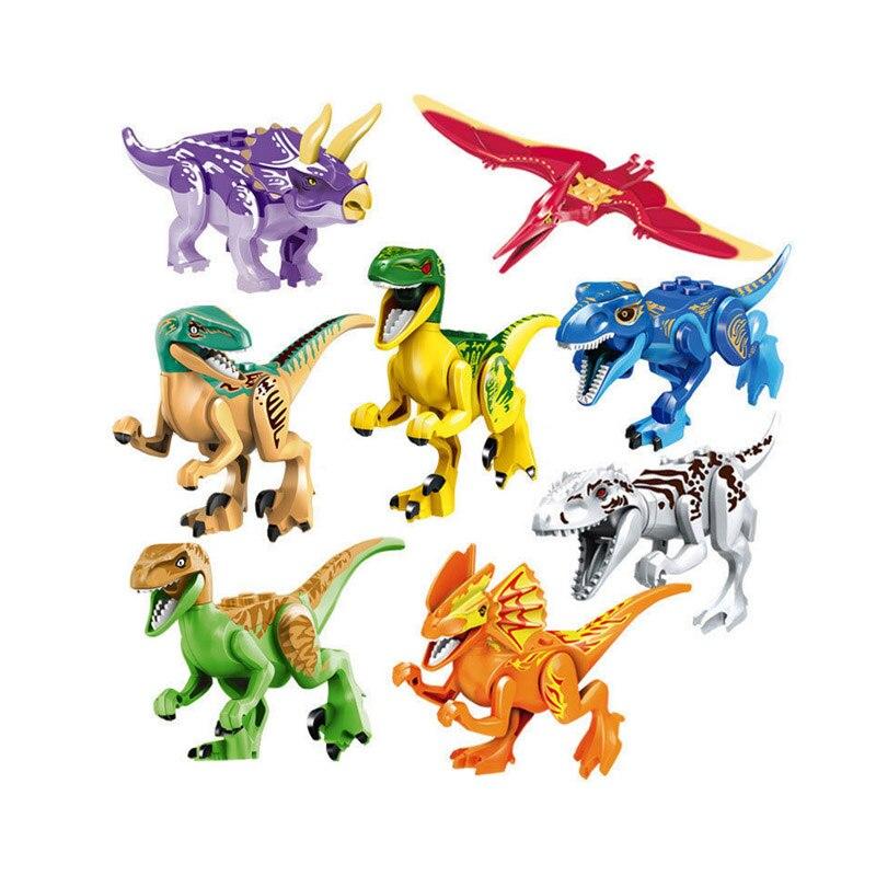 Jurassic vente unique dinosaures parc ptérosauria Triceratops Indomirus t-rex monde Figures briques jouets blocs de construction