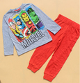 Мальчиков Мстители Одежда Набор Мальчиков Пижамы Набор Детская Одежда Комплект Мальчики Пижамы Дети Ночное Пижамы Установить 100% Хлопок
