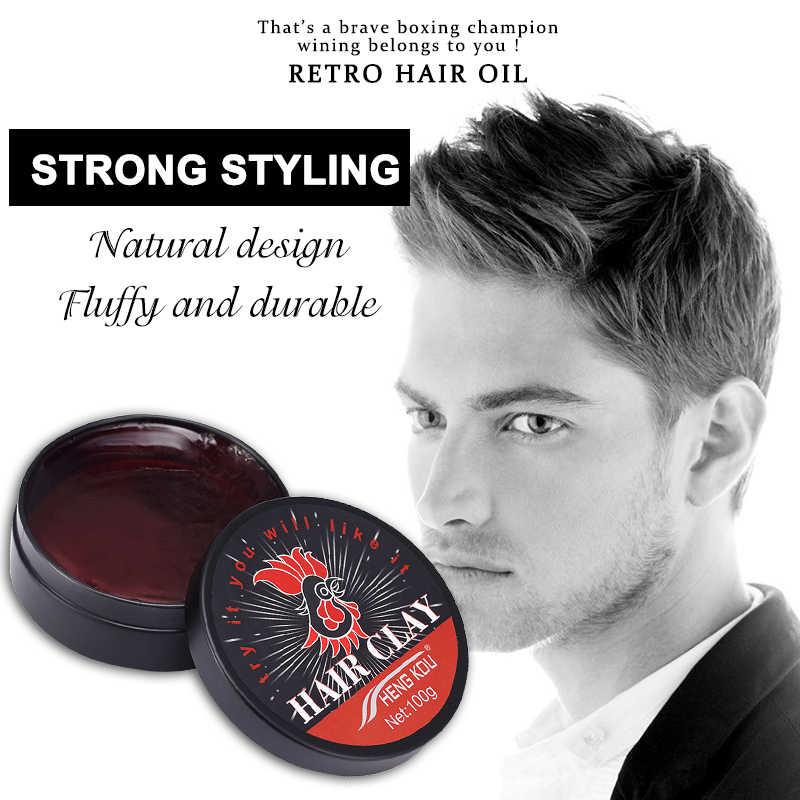 7770007ef7f Retro 100g Hair Oil Men Fashion Random Styling Fluffy Hair Wax Lasting Hair  Holder