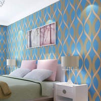 Modern Simple Wind Three Dimensional Geometric Stripes Non Woven Wallpaper Living Room Bedroom Full Shop TV