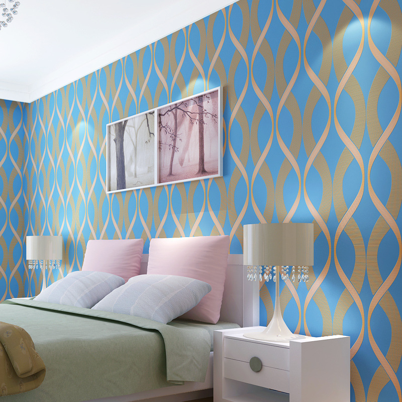 beibehang papel de parede Modern simple living room bedroom background fashion personality geometric stripes nonwoven wallpaper beibehang papel de parede mediterranean blue living room modern minimalist bedroom wallpaper background retro vertical stripes