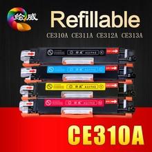 Un juego ce310a ce311a ce312a ce313a para hp126a compatible cartucho de tóner para hp laserjet pro cp1025 1025nw m175a m175nw m275mfp