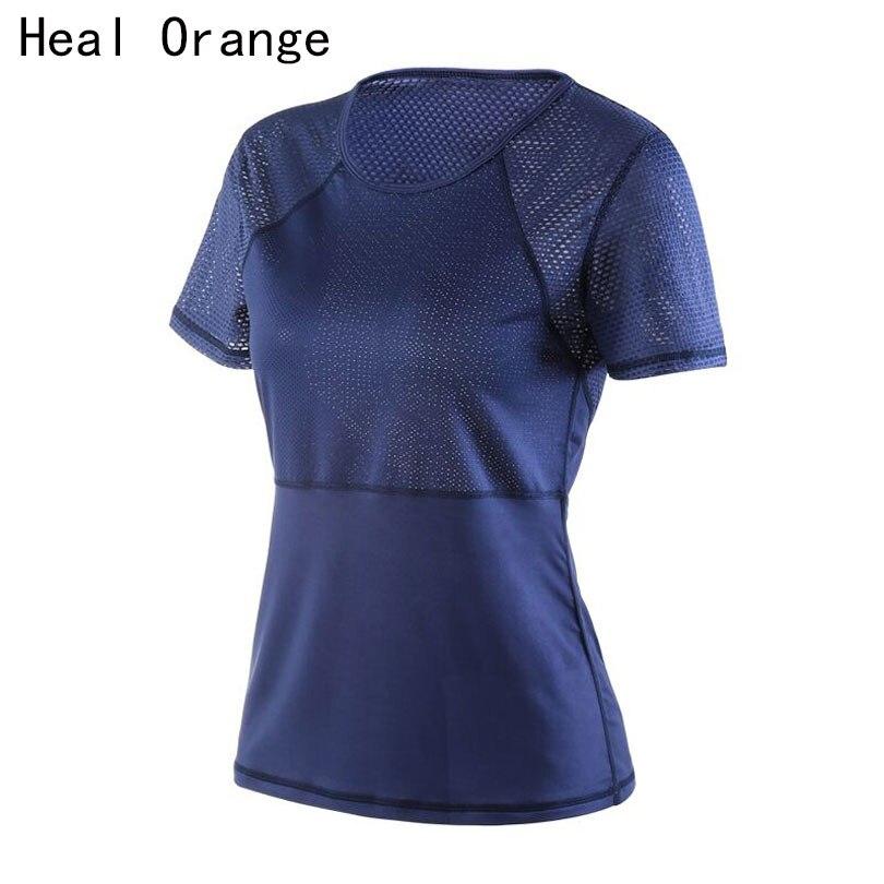 Sport Running T Shirt for Women Dry Quick Gym Yoga Shirt, Ladies Fitness Short Sleeve T-shirt Jogging Running Tops