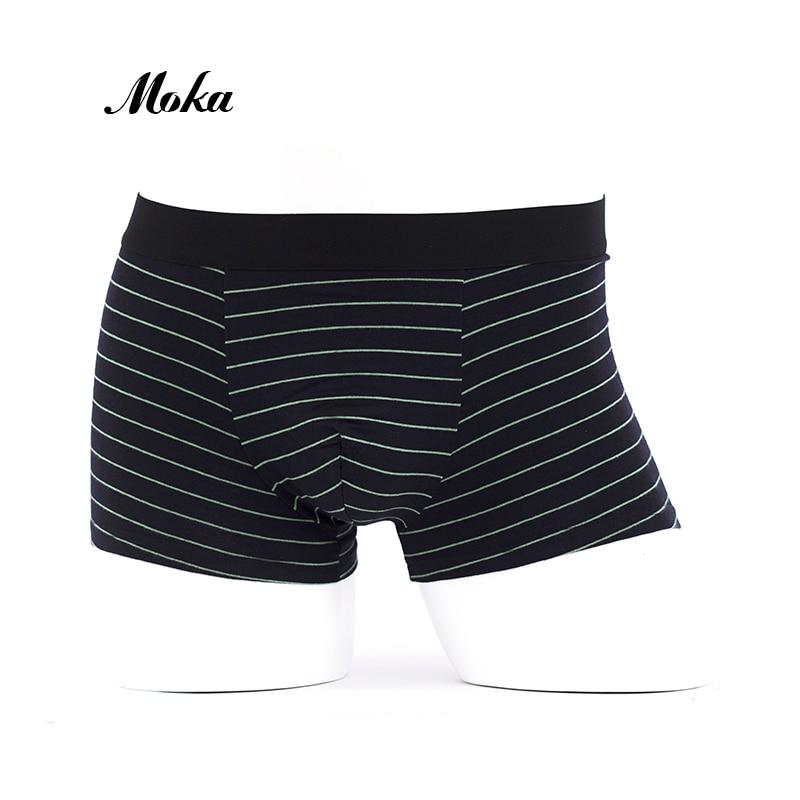 Brand Underwear Men Cueca Boxer stripe body Suit Cotton Sheer Boxer Shorts  Klein Property Underpants Hombre ... d28325227cd4