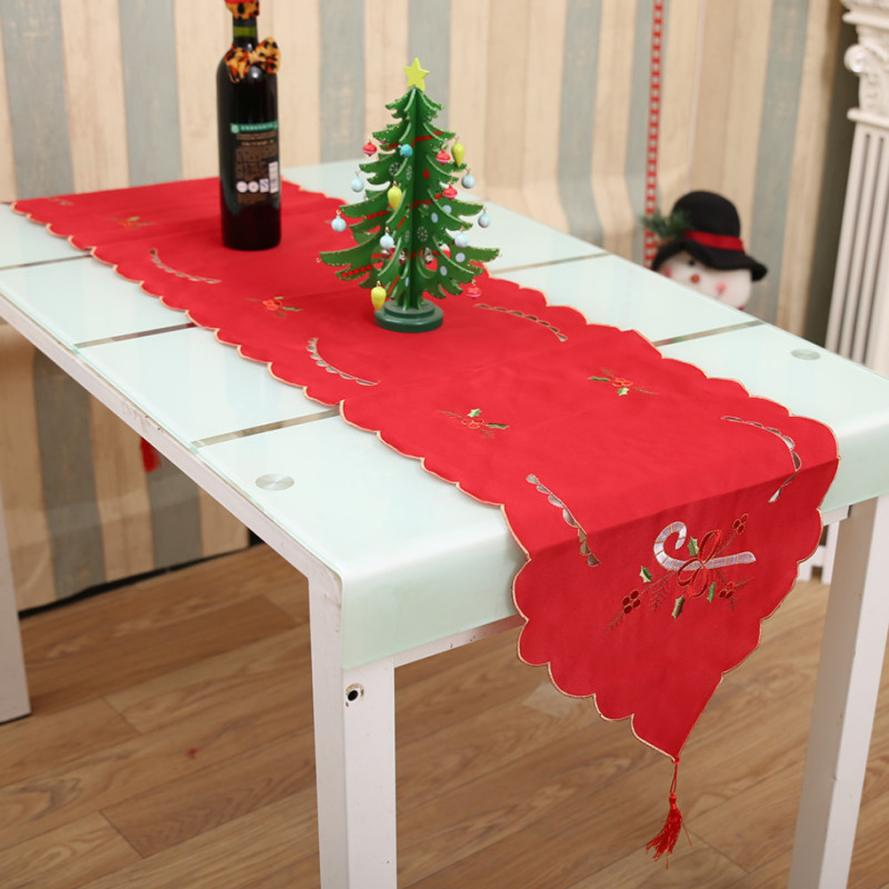 1pcs Table Cloth Christmas Decorations For Home Runner Cover Dresser Flag Dining Restaurant Party Decor In Runners From