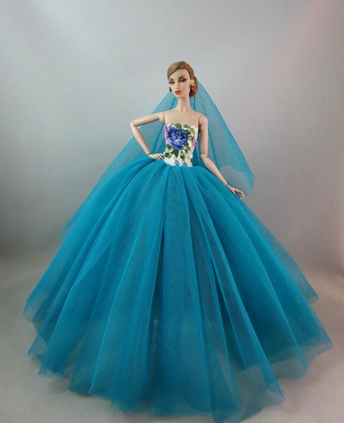 孔雀蓝网纱裙