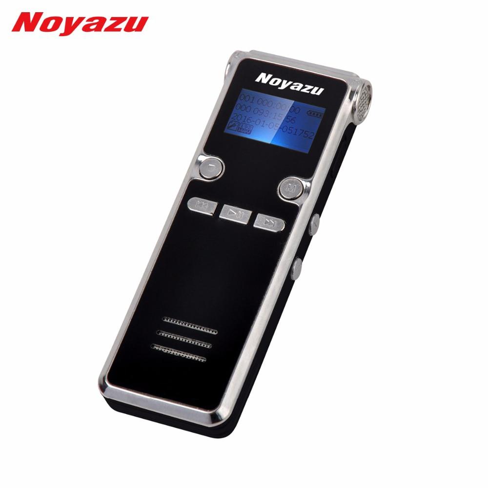 Noyazu 906 8G Mini digitális hangrögzítő Hosszú idő 600 óra felvétel Hosszú készenlét Ditaphone Professzionális MP3 lejátszó