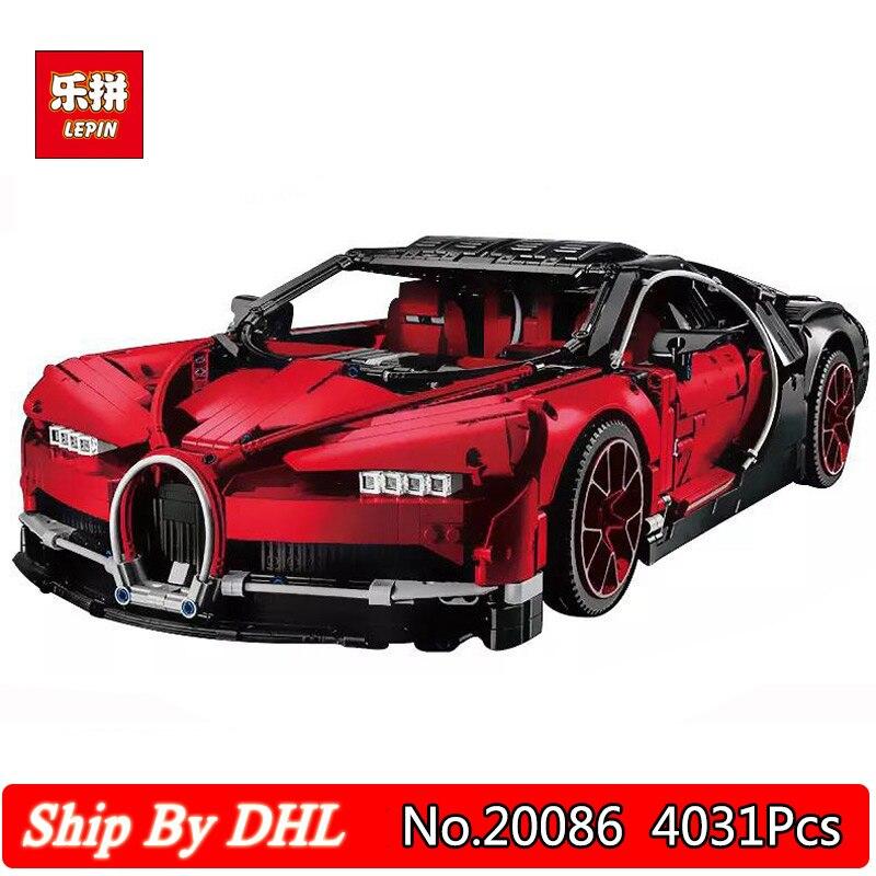 Technique De Voiture Série Supercar Bugatti Super Voiture 4031 Pcs Blocs Ensembles Lepin 20086 Jouets Compatible LegoINGs 42083 Briques Jouet