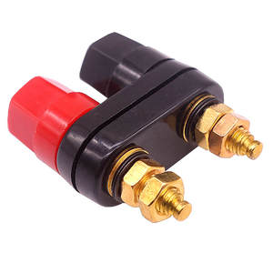 Nut Banana-Plugs Connector Terminals Binding-Post Couple Top-Selling Black Red Quality