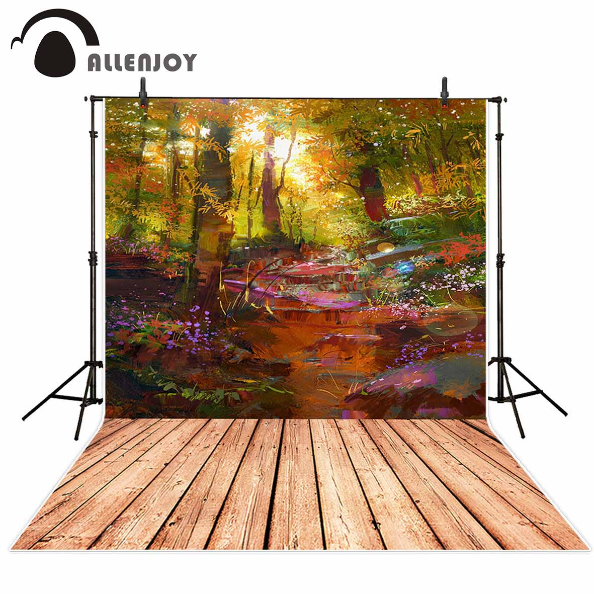 Allenjoy vinyl photography background Oil painting beautiful red spring plant pure professional festival backdrop photographic