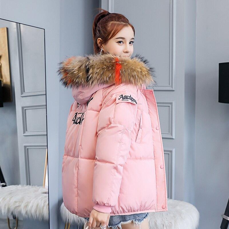 KUYOMENS HOT SALE fur collar women winter coat female warm wadded jacket womens outerwear   parka   casaco feminino inverno