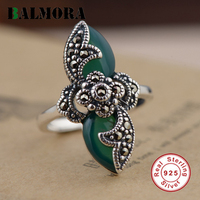 BALMORA Authentic 925 Sterling Silver Vintage Resizable Rings For Women Lover Best Gift Mosaic Ring Party