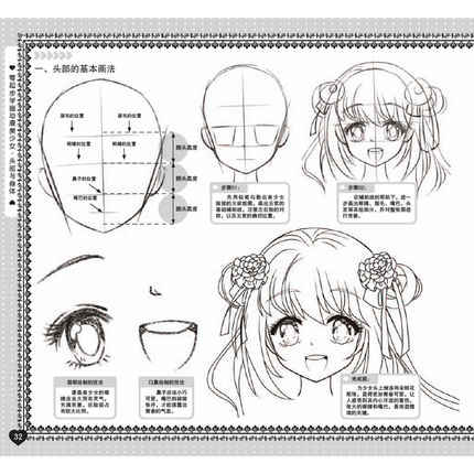Learn To Draw Anime Girl Head And Body From Scratch Hand Drawn Characters Comic Cartoon Tutorial Textbook Books Education Teaching Aliexpress