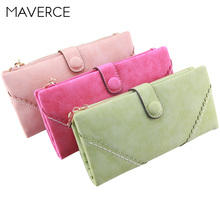 9 Color Korean Style Retro Women Wallets Frosted Hasp Women's Purse  Long Design Zipper Ladies Wallet  PU Leather Card Holder цена в Москве и Питере