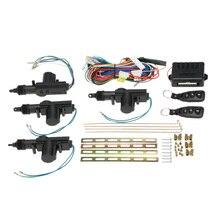 Universal Car Kit Sistema de Bloqueo Cerradura de La Puerta Central de Control Remoto de Entrada Sin Llave con Botón de Apertura Del Maletero para Auto Vehículo