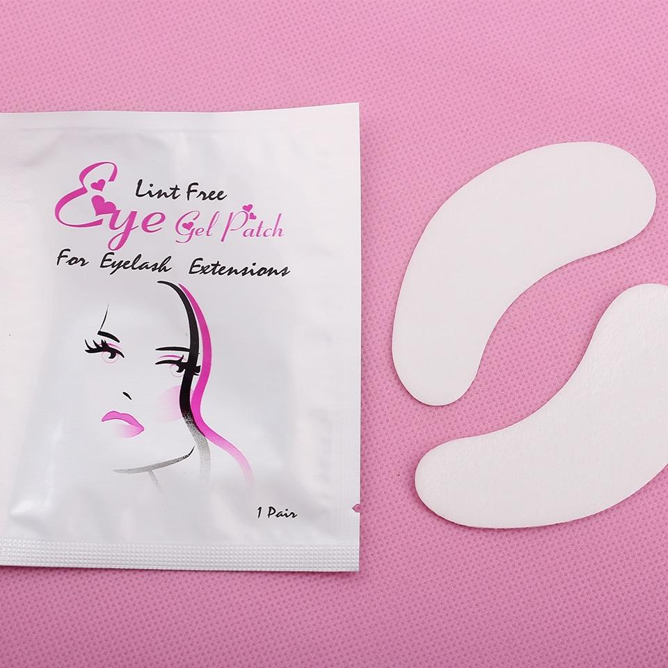 20 Pairs/Lot Eyelash Silk Eye Pads Under Eye Patches Eye lash Extension Lint Free Pads Eye Tips Sticker Wraps Makeup Tools