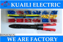 terminal kit 180pcs ring male and female terminal Crimp Terminals kits Set,multi-functional cable crimping pliers terminals