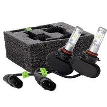 2pcs Auto Car LED Headlight Bulbs H1 H4 H7 H11 9005 9006 Light Bulb IP68 6500K White Vehicle