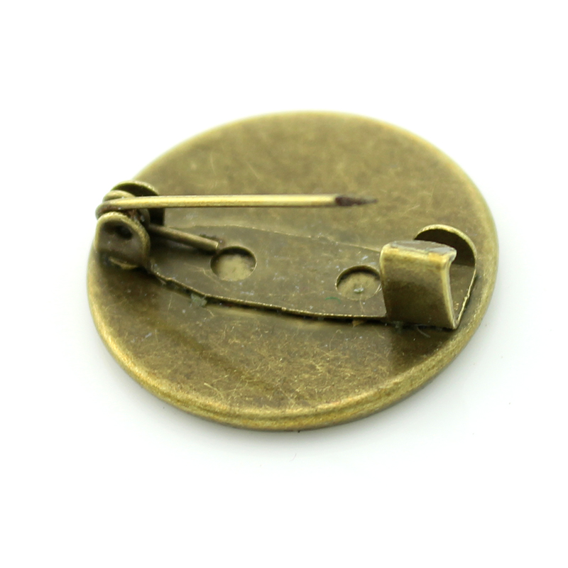 Brass brooch Winter girl