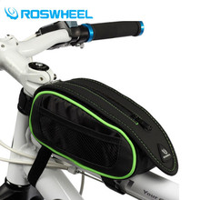 New ROSWHEEL Bicycle Front Tube Saddle Bags Waterproof Bike Saddle Bag Pouch MTB Bike Accessories