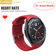 Smart Watch Y2 Clock Support Heart Rate Bluetooth 4 0 Remote camera control fashion SmartWatch For