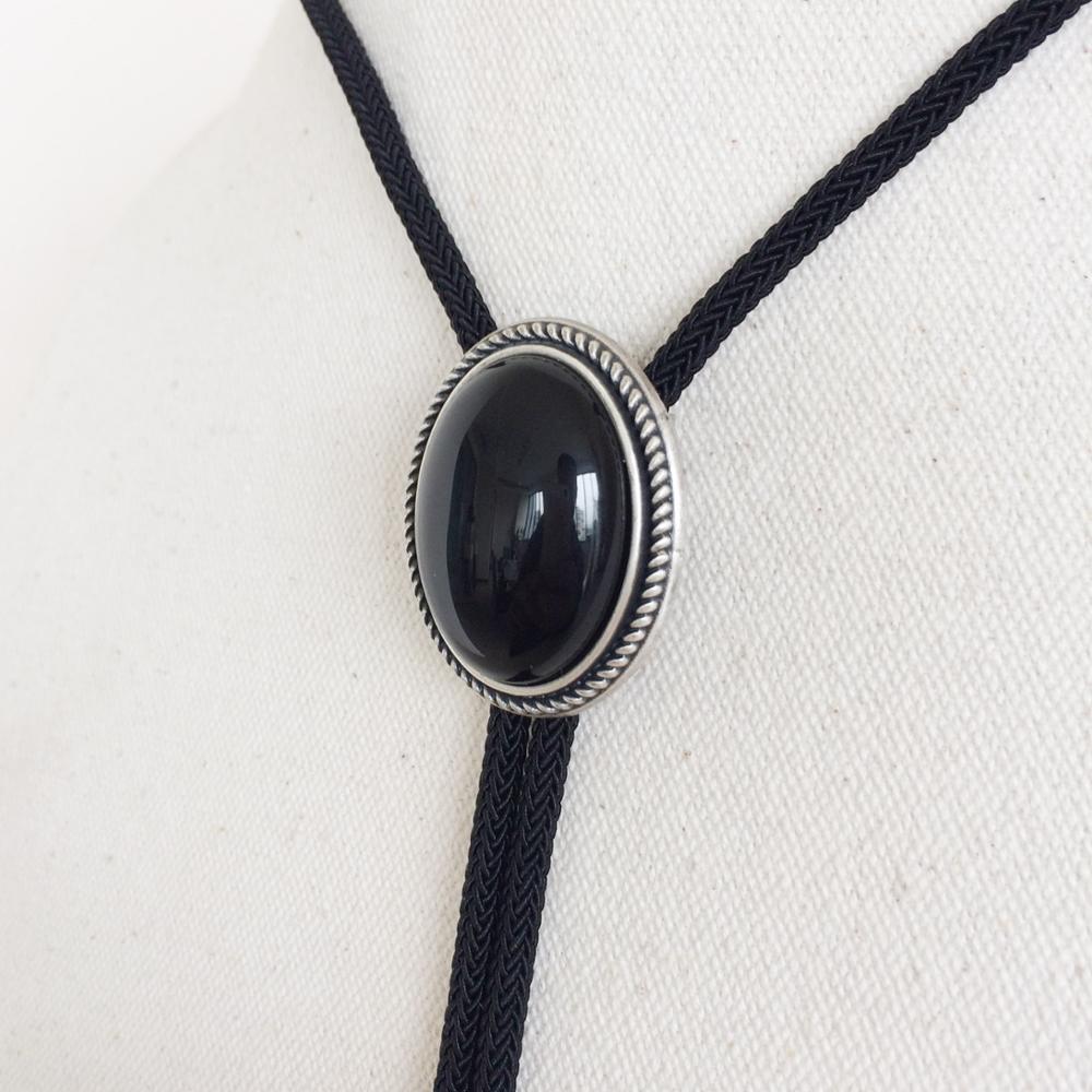 Original Handcraft Unique Nature Rhodonite Stone Bolo Tie Each Stone is Unique 9