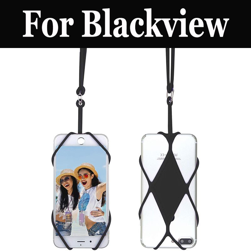 Universal Silicone Cell Phone Lanyard Holder Case Cover For Blackview R6 Lite P6000 P2 Lite BV7000 Pro A20 S6 BV9600 Pro