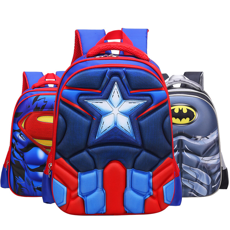 MVK The Avengers 4 Captain America Primary Students Schoolbag School Bags Boys Backpacks For Teenager Children Kids Bag Mochila