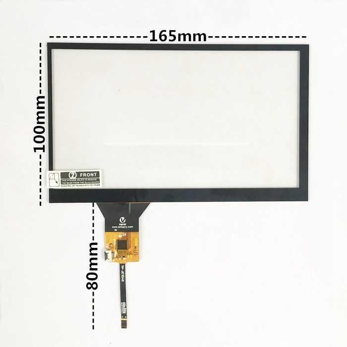 Pantalla táctil de 7 pulgadas pantalla capacitiva universal de navegación DVD Pantalla de navegación del coche 6 pin IC: GT911