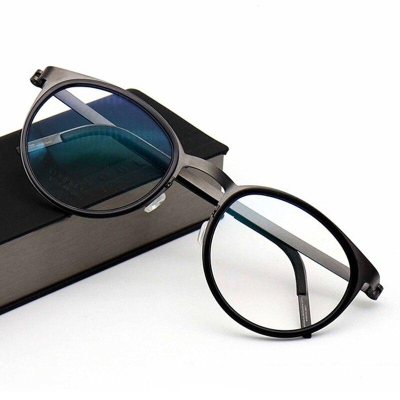 Monture de lunettes rondes en titane Vintage Prescription optique faite à la main Style coréen léger rétro Oculos de Grau pour hommes femmes