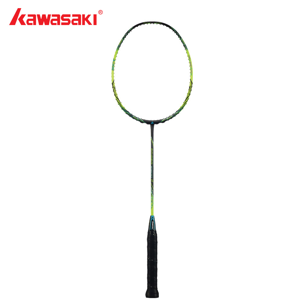 Kawasaki Brand Badminton Rackets Graphite Fiber 3U Offensive Type Racket For Professional Player Racquet Gift Spider 9900 II