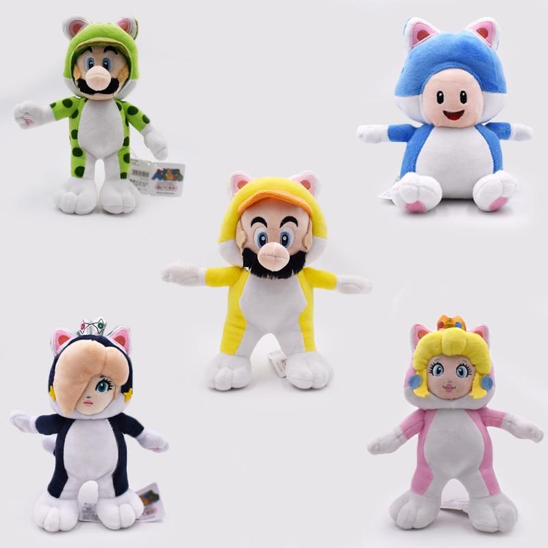 "Plush Doll Stuffed Toy CAT Princess Rosalina 9/"" New Super Mario Bros"